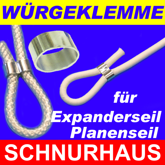 20 St/ück W/ürgeklemme f/ür 10mm Gummiseil Planenseil Expanderseil verzinkt